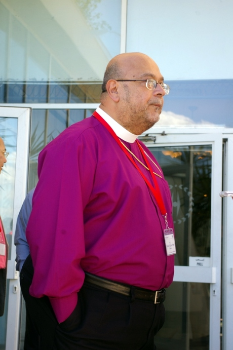 The Primate of Mexico, Archbishop Carlos Touche-Porter on Feb 1 at the Helnan Palestine Hotel in Alexandria.