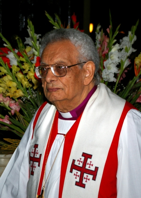 The former Bishop of Egypt, the Rt. Rev Ghais Malik at St Mark's Cathedral, Alexandria on Feb 1, 2009.