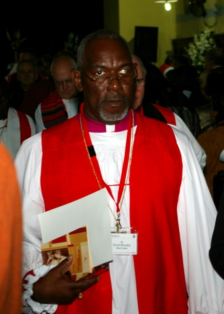 The Rt. Rev. Errol Brooks, Bishop of Northeast Caribbean and Aruba at St Mark's Cathedral, Alexandria on Feb 1, 2009.