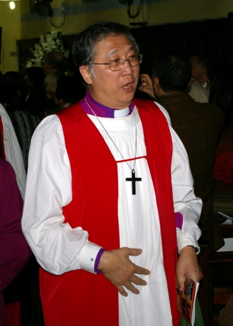 The Primate of Southeast Asia, Archbishop John Chew of Singapore at St Mark's Cathedral, Alexandria on Feb 1, 2009