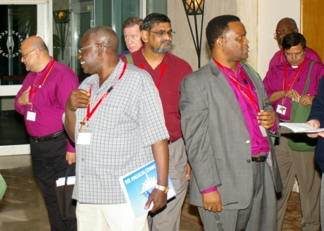 A break in the action of the 2009 Primates meeting in Alexandria.