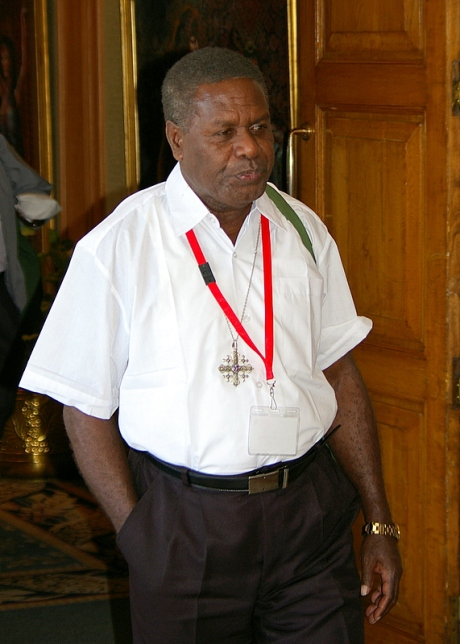 The Rt. Rev. Charles Koete, Bishop of the Central Solomon Islands and senior bishop of the Anglican Church of Melanesia