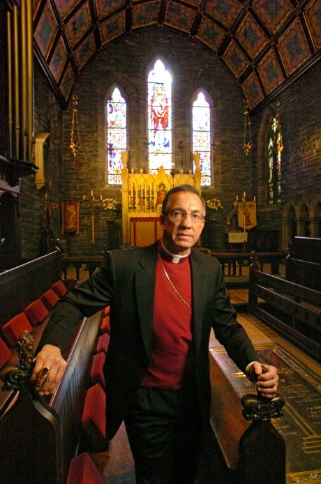 The Rt. Rev. David Moyer.  Rector of the Church of the Good Shepherd, Rosemont, Pennsylvania, Suffragan Bishop of the Armed Forces for the Anglican Church in America, Assistant Bishop of the Diocese of The Murray in the Anglican Church of Australia. Photo printed on April 17, 2009 in The Church of England Newspaper