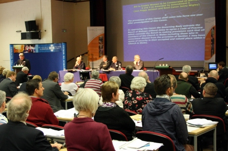 Church in Wales Governing Body debate on Women Bishops