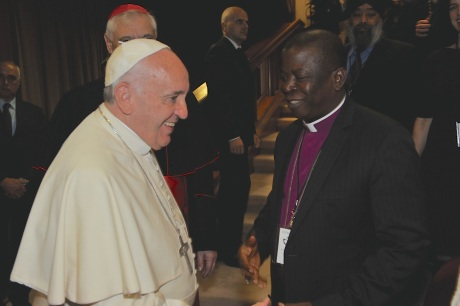Nicholas Okoh with Pope Francis