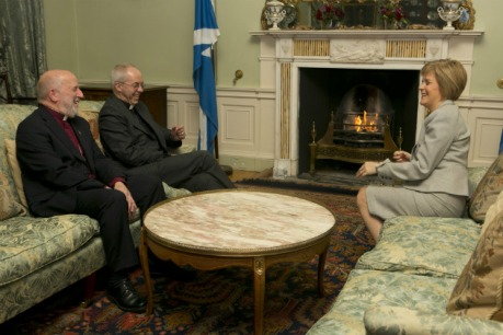 Nicola Sturgeon with David Chillingworth and Justin Welby